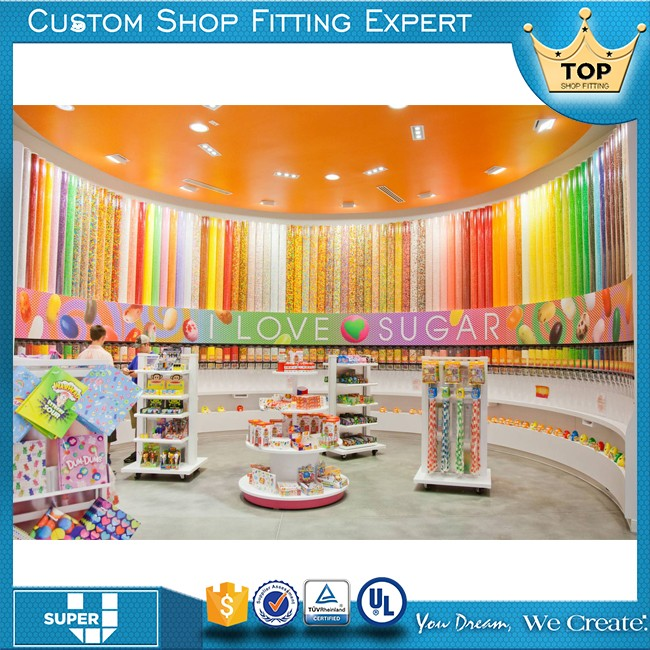 Custom Design Attractive Wonderful Candy Shop Decorations