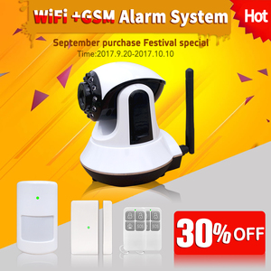 WIFI GSM Home Security Alarm System 3G Camera 24viewing for home office hotel safe support Tablet phone app anti theft alarm