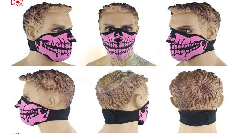 Autumn Winter Bicycle Windproof Masks Anti-fog Dust Facemask Halloween Ghost Mask
