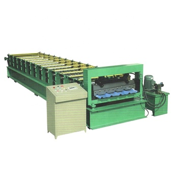 Metal galvanized aluminum corrugated steel sheet making machine colored steel wall glazed roof panel tile roll forming machine