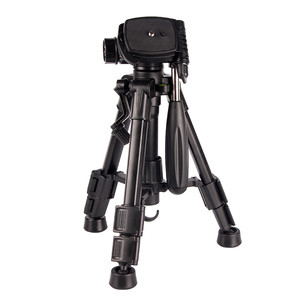 aluminum telescopic small table tripod with 1/4 screw 3 way pan head for smartphone and dslr camera