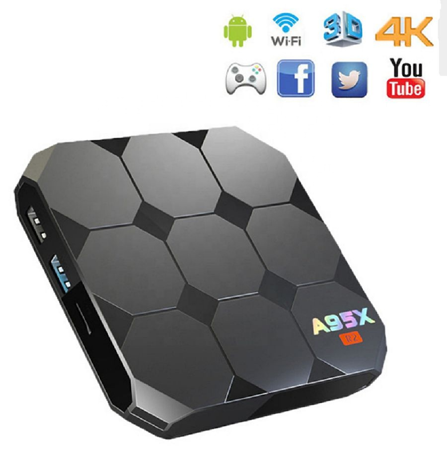 A95X R2 Android 7,1 Smart TV Box 4K Amlogic S905W Wifi 2GB RAM 16GB ROM Set Top caja de Set-Top Box