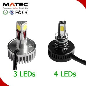 One year warranty super white LED motorcycle headlight replace HID 4 sides h1 led motorcycle