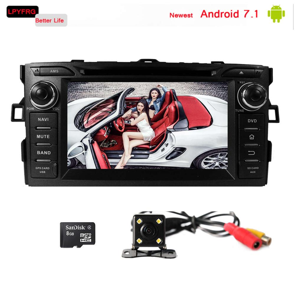 LPYFRG C600 android 7.1 in dash car multimedia system for toyota corolla 2012 e11 e12 built-in 3/4G Wifi OBD2 tpms 2G RAM
