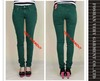 deep green color jeans skinny slim cutting garment dye jeans denim jeans