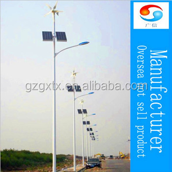 Solar and Wind energy street lighting pole