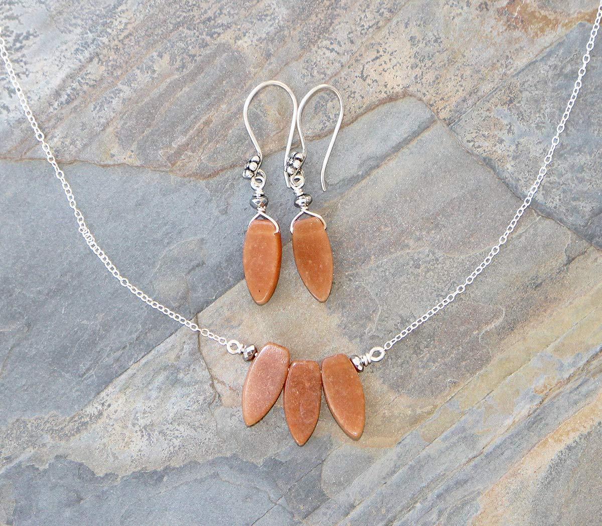Orange Jewelry Set, Carnelian Jewelry Set, Natural Stone Jewelry Set, Bohemian Jewelry Set, Handmade Jewelry Set, Boho Jewelry Set, For Her
