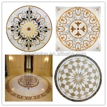 Tile Floor Medallions Water Cut Medallion Round Mosaic Patterns