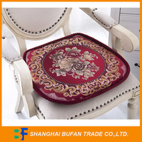 new design life heavy knitted yarn dyed jacquard cushion for chair