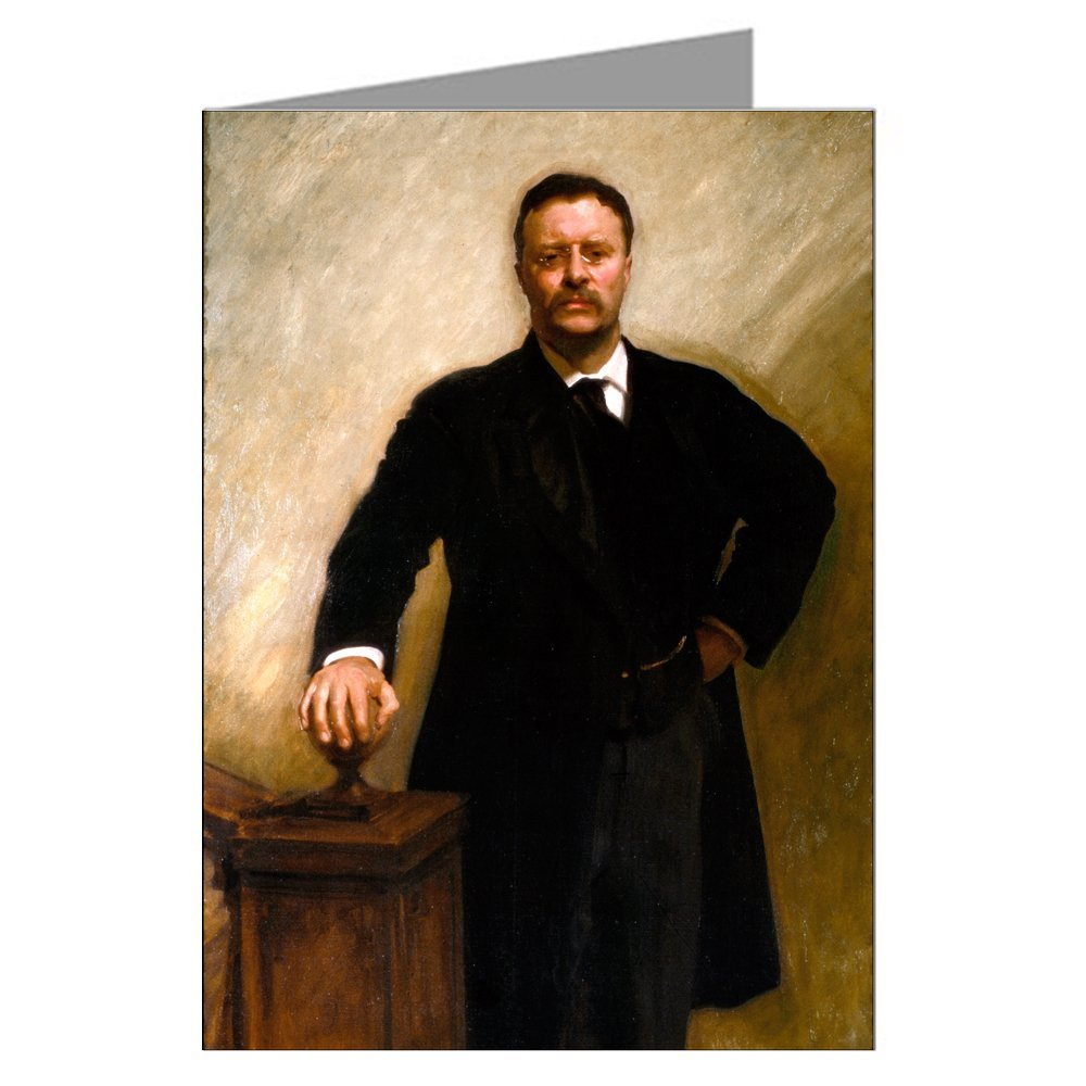 Single Vintage Greeting Card of Theodore Roosevelt by John Singer Sargent, c 1903.