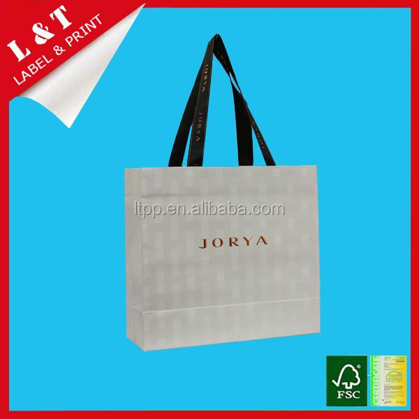 Eco-friendly foldable grocery luxury shopping paper bag