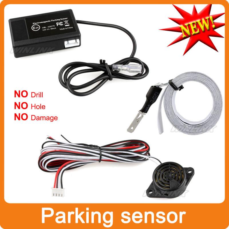 Легко установить авто электромагнитная датчик парковки, Не сверлить не отверстие, Автомобиль обратный парковочный радар бесплатная доставка