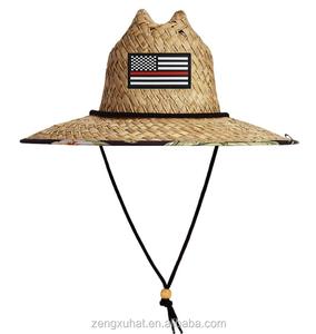1267831801e Factory cheap wholesale popular american rush grass lifeguard straw hat for  man