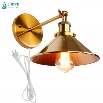 Us Bronze Metal Wall Sconce E26 Vintage Loft Style Indoor Plug In Lamp For Living Room