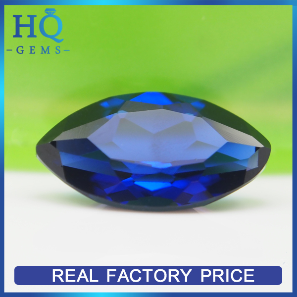 wholesale price marquise shape blue sapphire gemstone