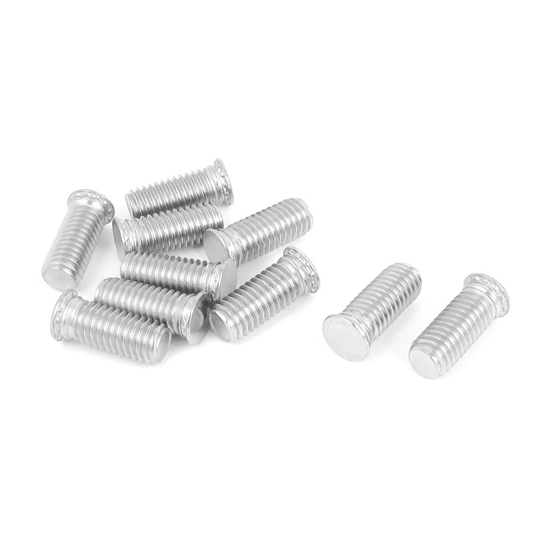 Uxcell a15101500ux0570 Self Clinching Studs M8x20mm Flush head Stainless steel Self Clinching Threaded Studs 10Pcs