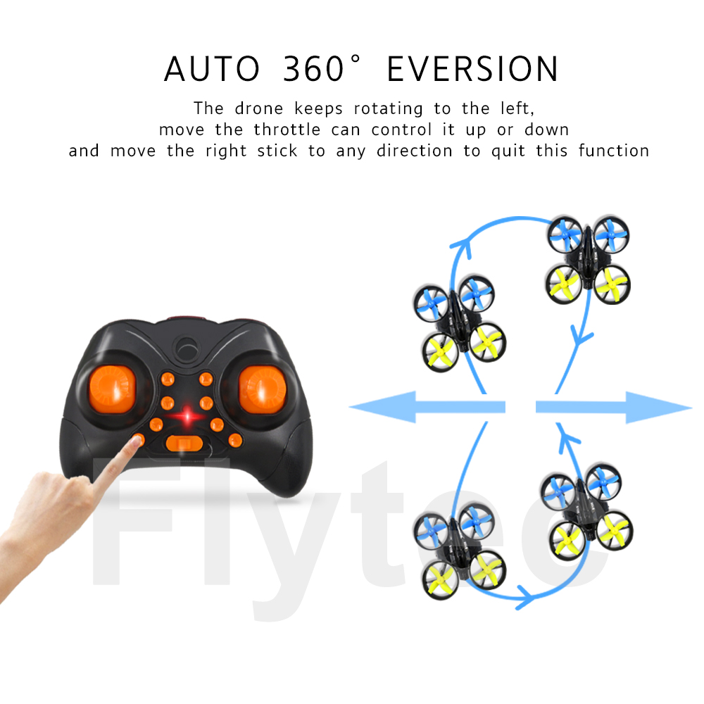 2017 Newest Flytec S105 2.4GHz 6 Axis Gyro Mini Quadcopters Rc Drone Headless Mode 3D Flip RC flying toys vs jjrc h36