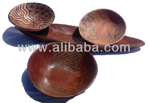 Oval Wooden Fruit Bowls