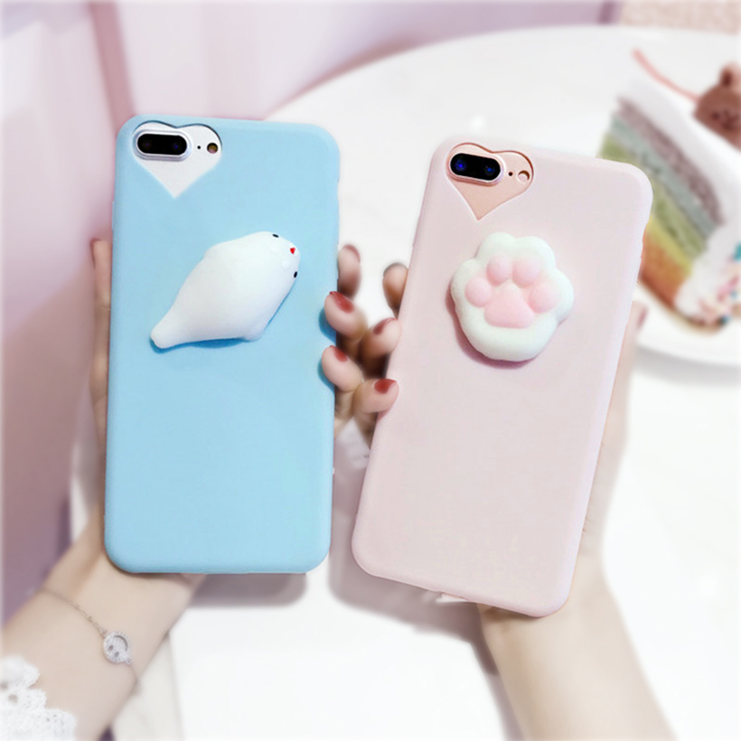 hot sale online af9bb e95f9 Case For Iphone 7 7plus Squishy Kneading Case 3d Soft Silicone Seal Cover  For Iphone 6 6s Plus 6plus Sequeeze Toys Capa Coque - Buy Sequeeze ...