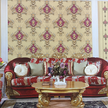 Wholesale Vinyl Islamic Decorative Wallpaper Designs Damask European Wallpaper