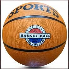 One Color Rubber Basketballs With Logo Printed