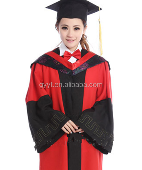 China mainland style Graduation Gown university graduates gown