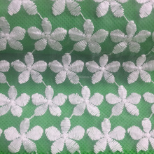 New fashion Wholesale lace trim dress tulle embroidered cotton /polyester organza/mesh fabric for garment/home textile