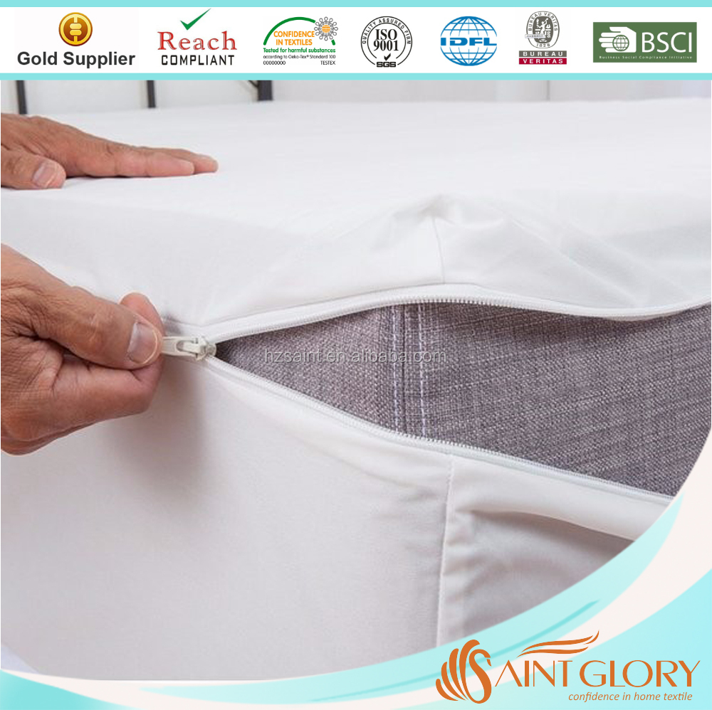 Knitted bed bug encasements waterproof mattress cover with zipper china mattress pad sheet protector