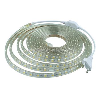 Led Strip Lights Home Depot 5050 220v With Power Plug 60 Led M Ip67 Waterproof Outdoor Home Decoration String Lighting Flexible Buy Led Strip