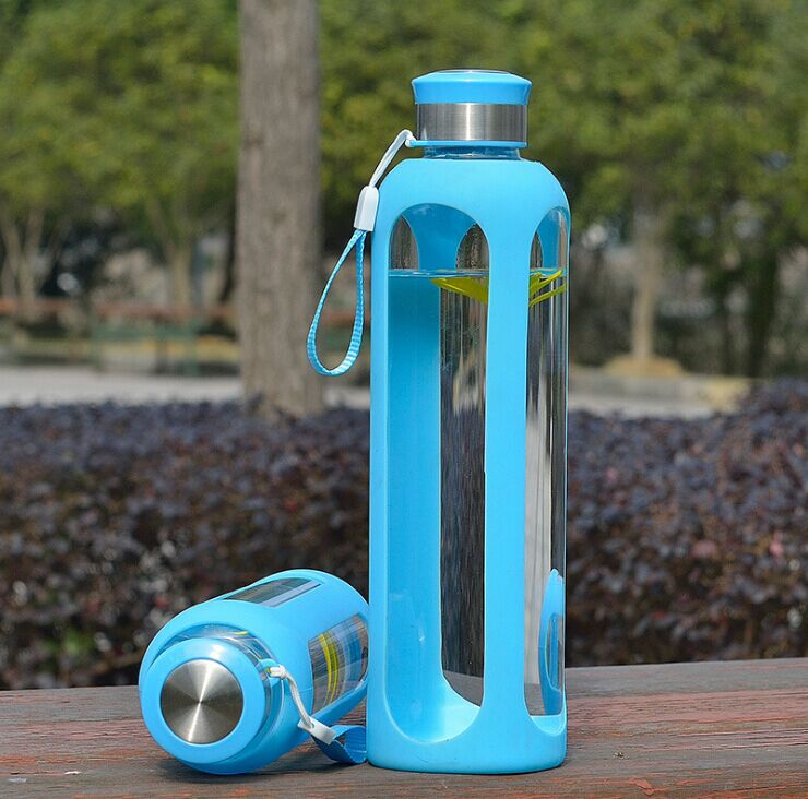 Hittebestendig borosilicaat siliconen mouw water flessen for Hittebestendig glas