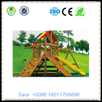 Wood Playsets For Sale Backyard Games For Kids Wooden Slide And Climbing Frame For Kids Qx 18068b View Wood Playsets For Sale Qixin Product Details