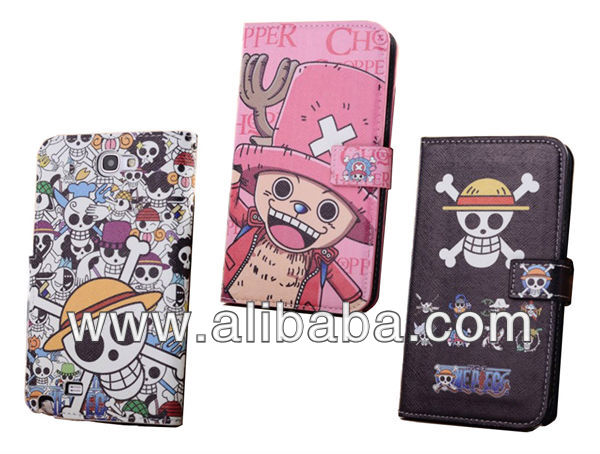 One Piece Wallet Stand Leather Case with Card Slots for Samsung Galaxy Note 2 / Galaxy SIII / Iphone 5