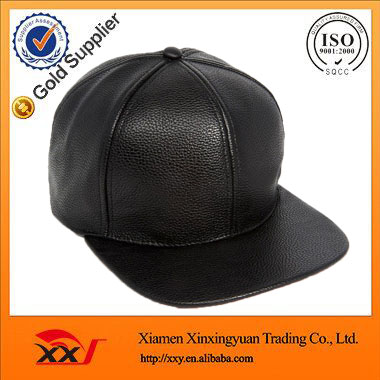 9ca5600471893 guangzhou hat manufacturer custom 6 panel fitted black blank leather  chinese hat