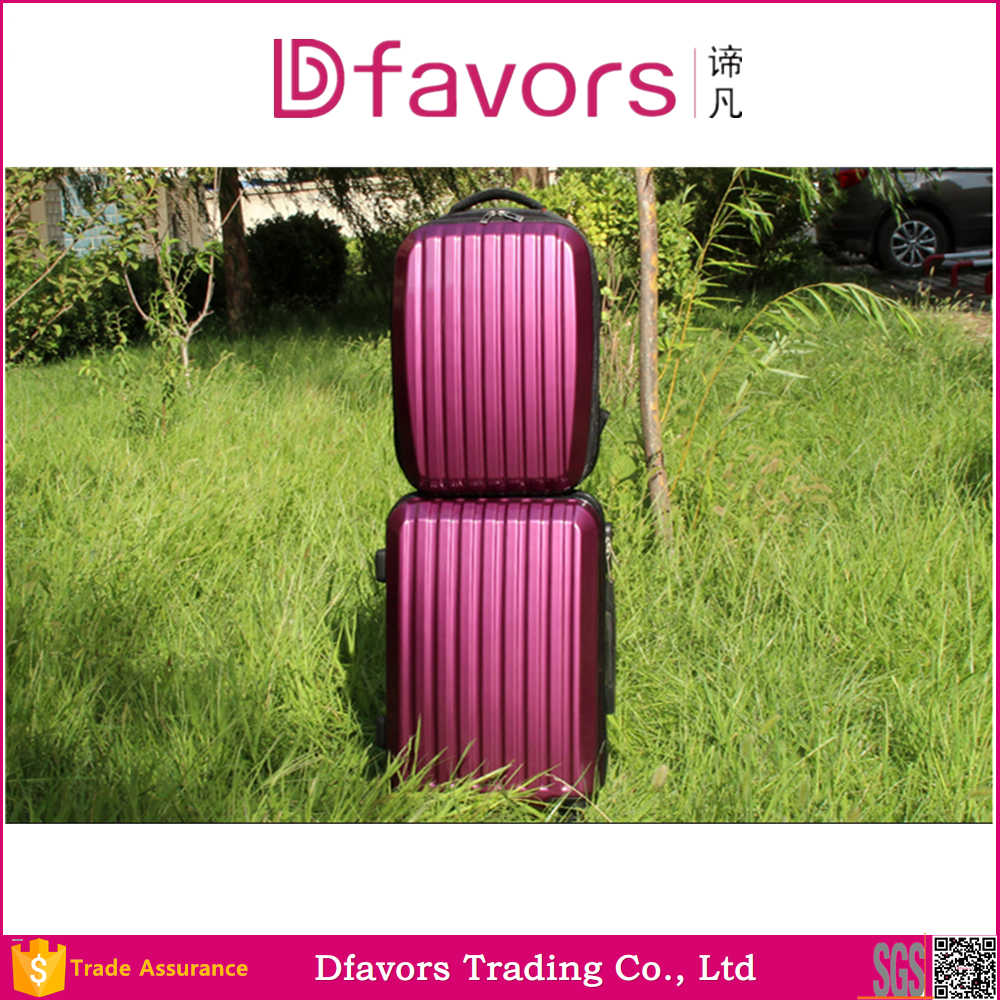 hot sell 2 pieces PC trolley luggage and backpack set china manufacturer
