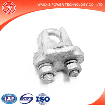 Hot-dip Galvanized Wire Rope Clips/ Guy Clips Electric Cable Clamps ...