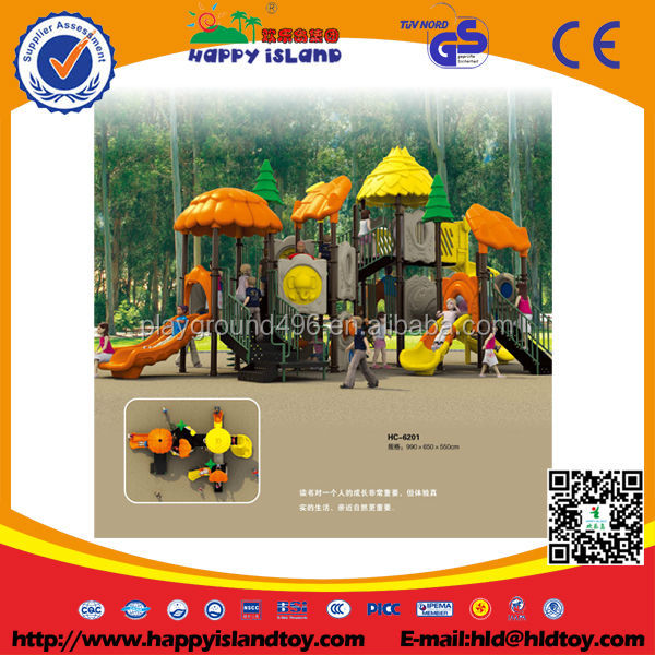 2016 New Design Kids Jungle Series Plastic Sliding Outdoor Playground for sale