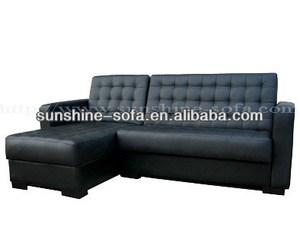 Home PU Leather L Shape Sofa Cum Bed