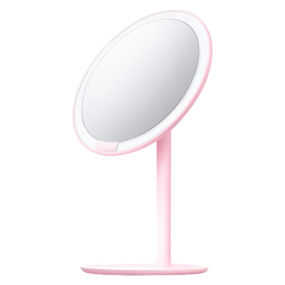 Makeup Mirror LED Fill Light Desktop Vanity Mirror Student Dormitory Mirror USB Charging Double-Sided 3X Magnification 60° Mirror Adjustment 6.5 inches