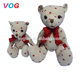 OEM & ODM promotional customized lovely animal big eyed plush toys with bowknot for christmas gifts