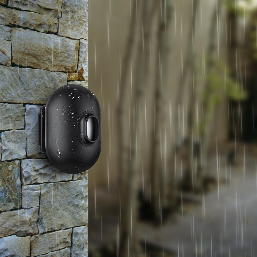 Mutil-functional Door PIR Motion Sensor 100DB Alarm Sensor with Flash  Light Monitor Driveway or Garage