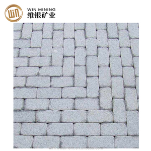 Hot sale natural cheap sesame white granite blocks paving for parking area