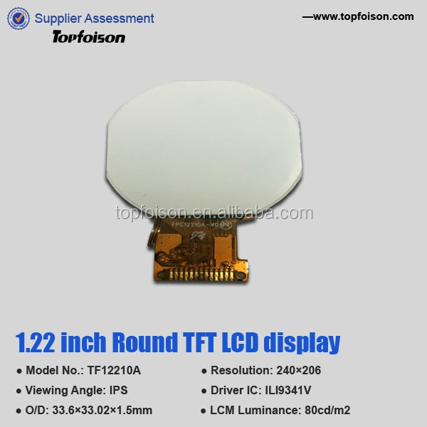 cheap circular 1.22inch round retail display lcd module for kid toy