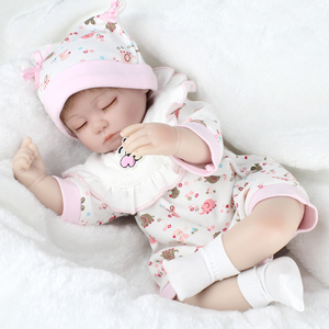 NPKDOLL 17inches lifelike reborn baby soft silicone vinyl real touch doll lovely newborn baby doll