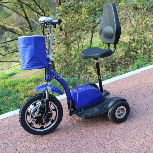three wheel 48v 20ah battery power electric scooter