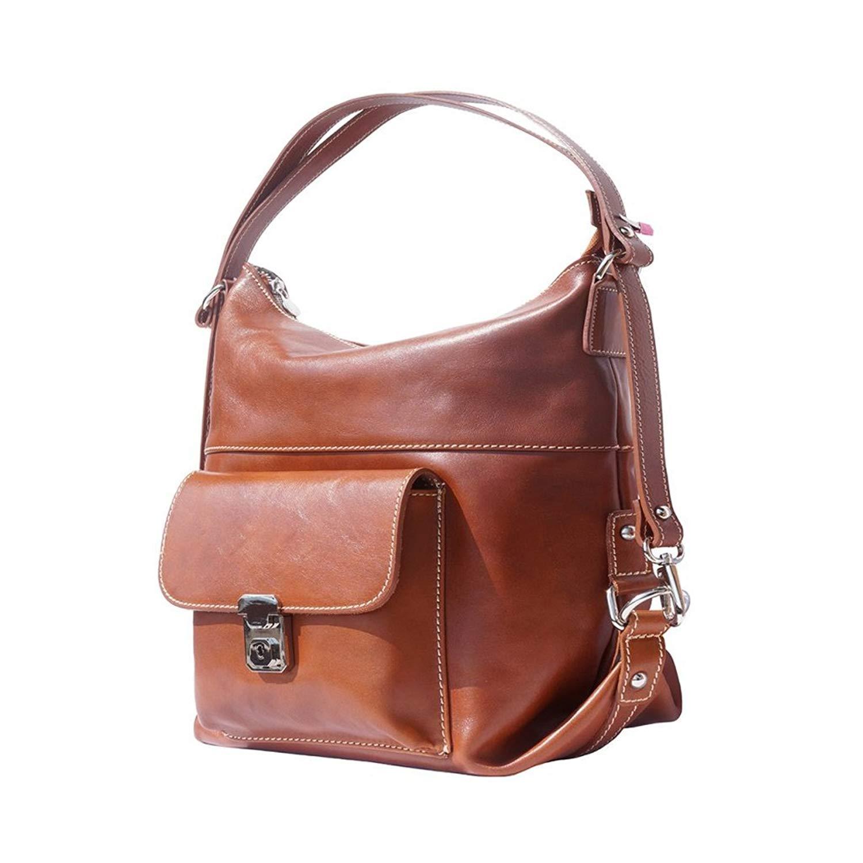 58157e6525 Bazaar Bridge 3-in-1 Tan Italian Leather Bag - Backpack