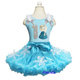 Turquoise Blue Pettiskirt Snowflake Tutu Silver Number 1 2 3 4 5 6 Elsa Birthday Party Dress 1-10Y
