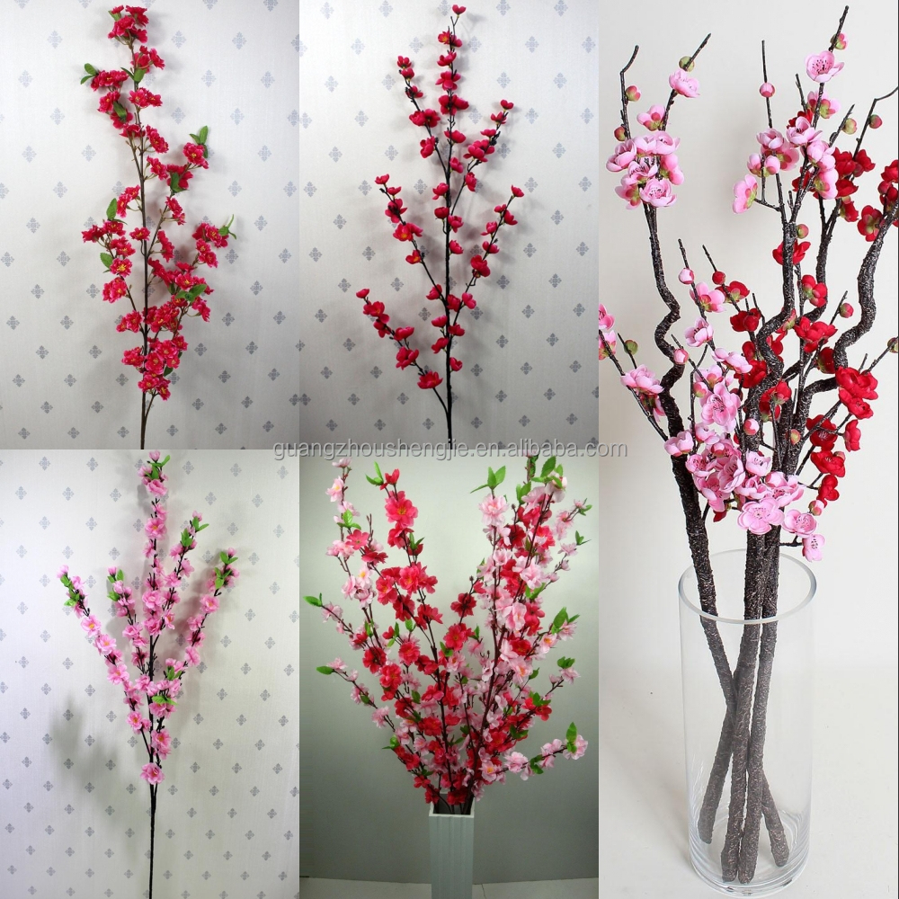 Sjh122526 Artificial Plastic Orchids Red Single Flowers