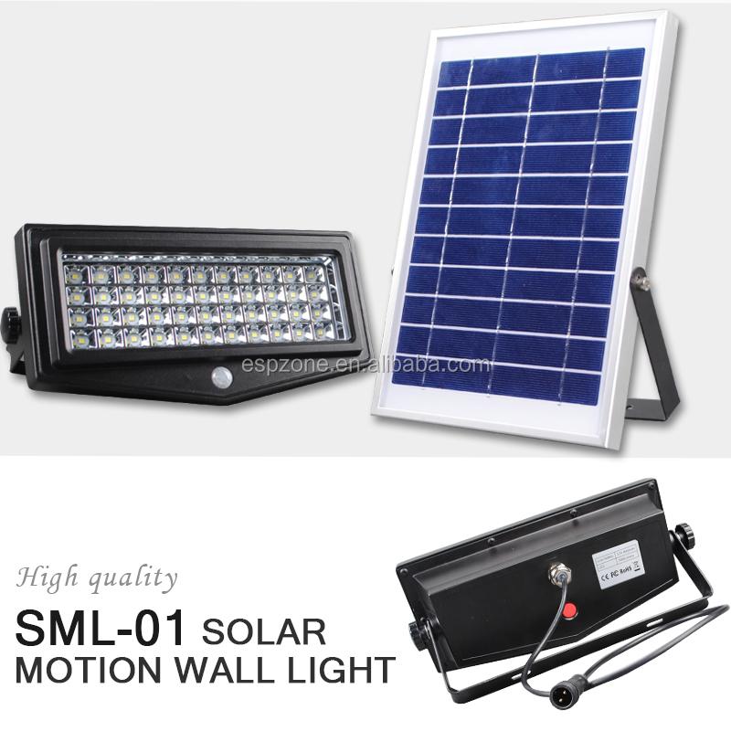 Dusk To Dawn 10w Solar Outdoor Flood Light Led With Motion Sensor ...