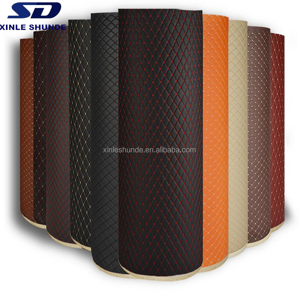 5D Leather Car Floor Mat Materials in Roll