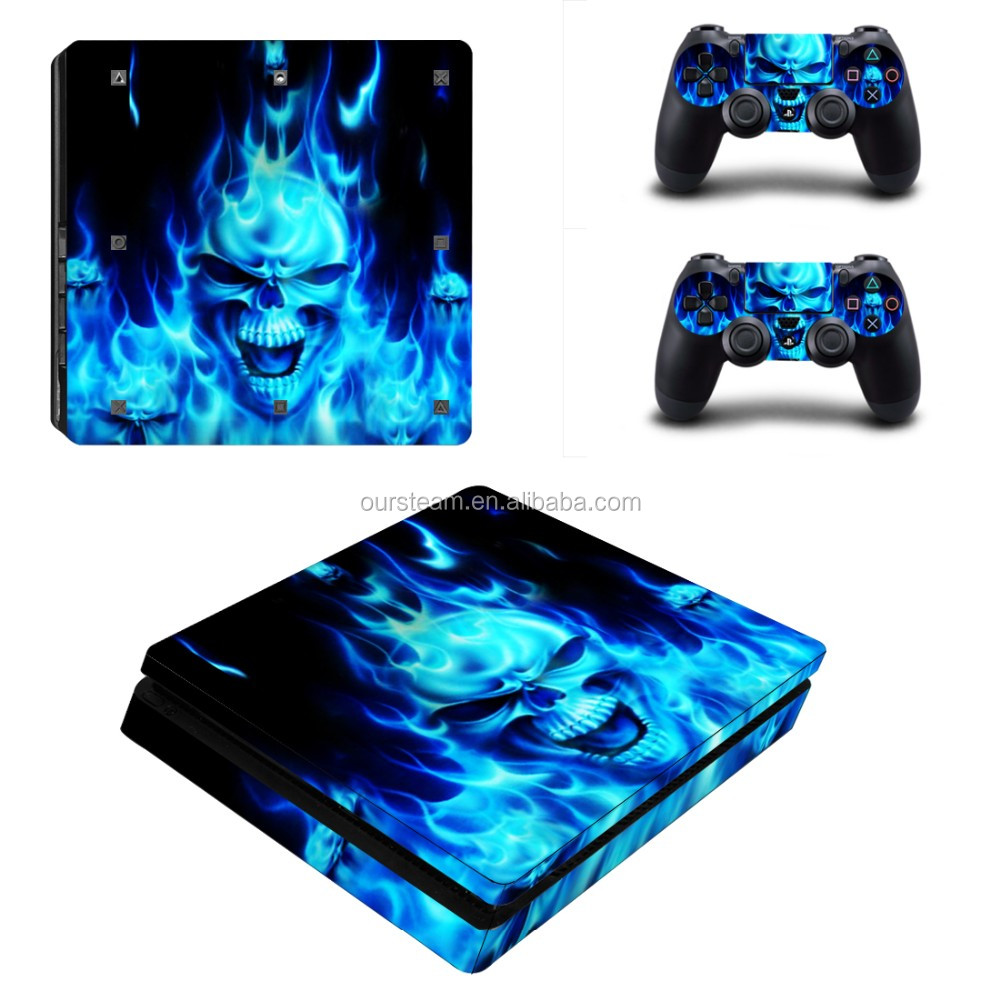 Video Games & Consoles Vinyl Skin Cover Blue Flames Decal Sticker For Sony Playstation 4 Faceplates, Decals & Stickers